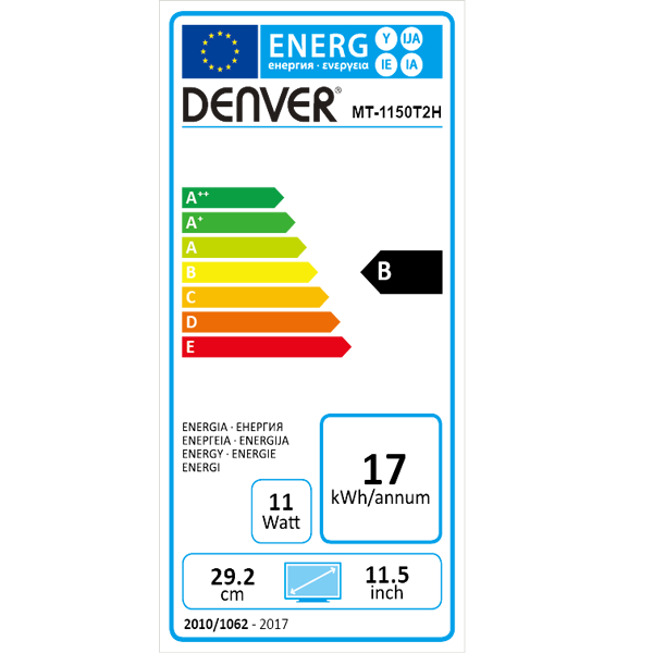 DENVER MT-1050T2H - Energy label.png