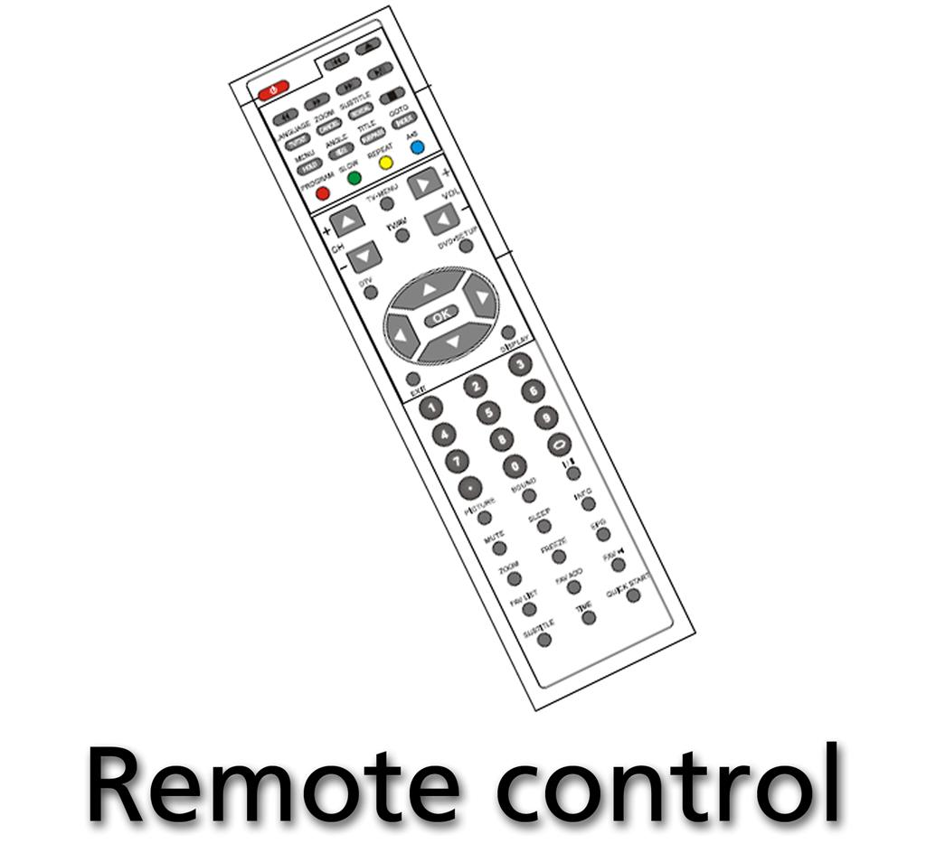 Remote control for DENVER DVH-1244/7784